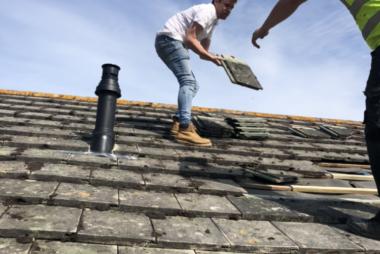 Storm damage roof repairs